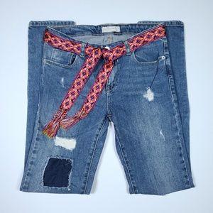 Zara Girls Distressed Jeans Excellent Condition